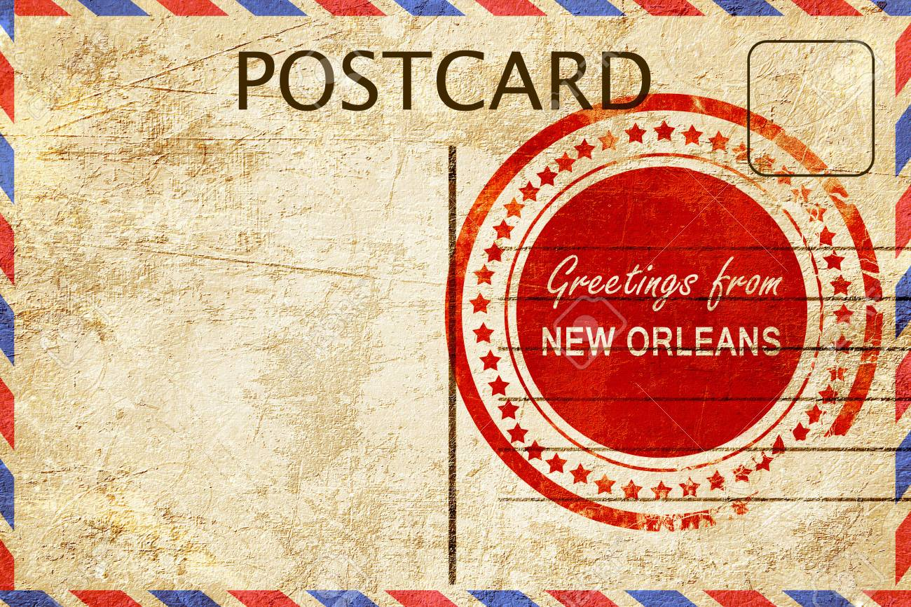 Greetings from new orleans stamped on a postcard stock photo greetings from new orleans stamped on a postcard stock photo 55210735 m4hsunfo