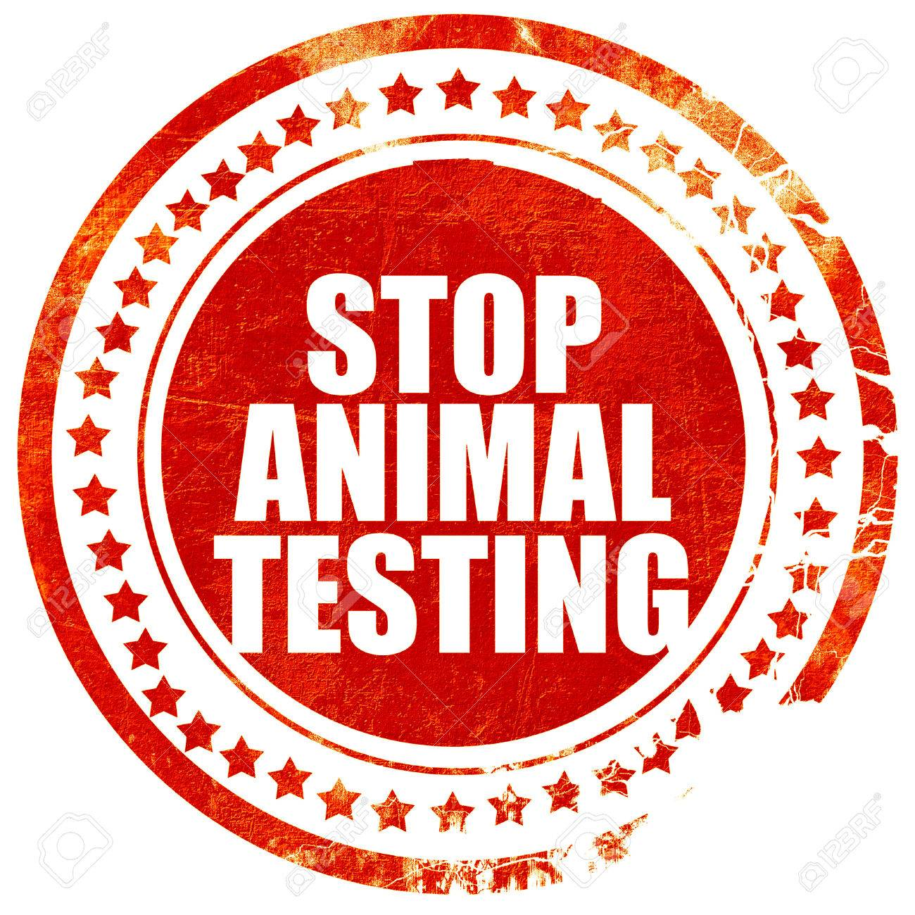 Stop Animal Testing, Isolated Red Stamp On A Solid White ...