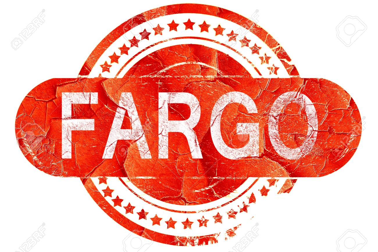 Fargo Red Grunge Rubber Stamp On White Background Stock Photo
