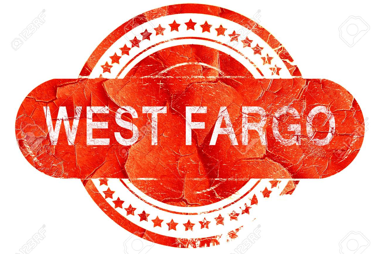 West Fargo Red Grunge Rubber Stamp On White Background Stock Photo