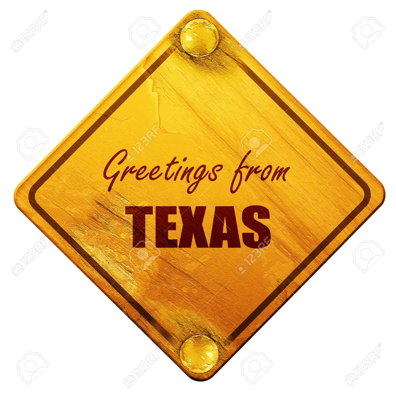 Greetings from texas with some smooth lines 3d rendering yellow greetings from texas with some smooth lines 3d rendering yellow road sign on a kristyandbryce Choice Image