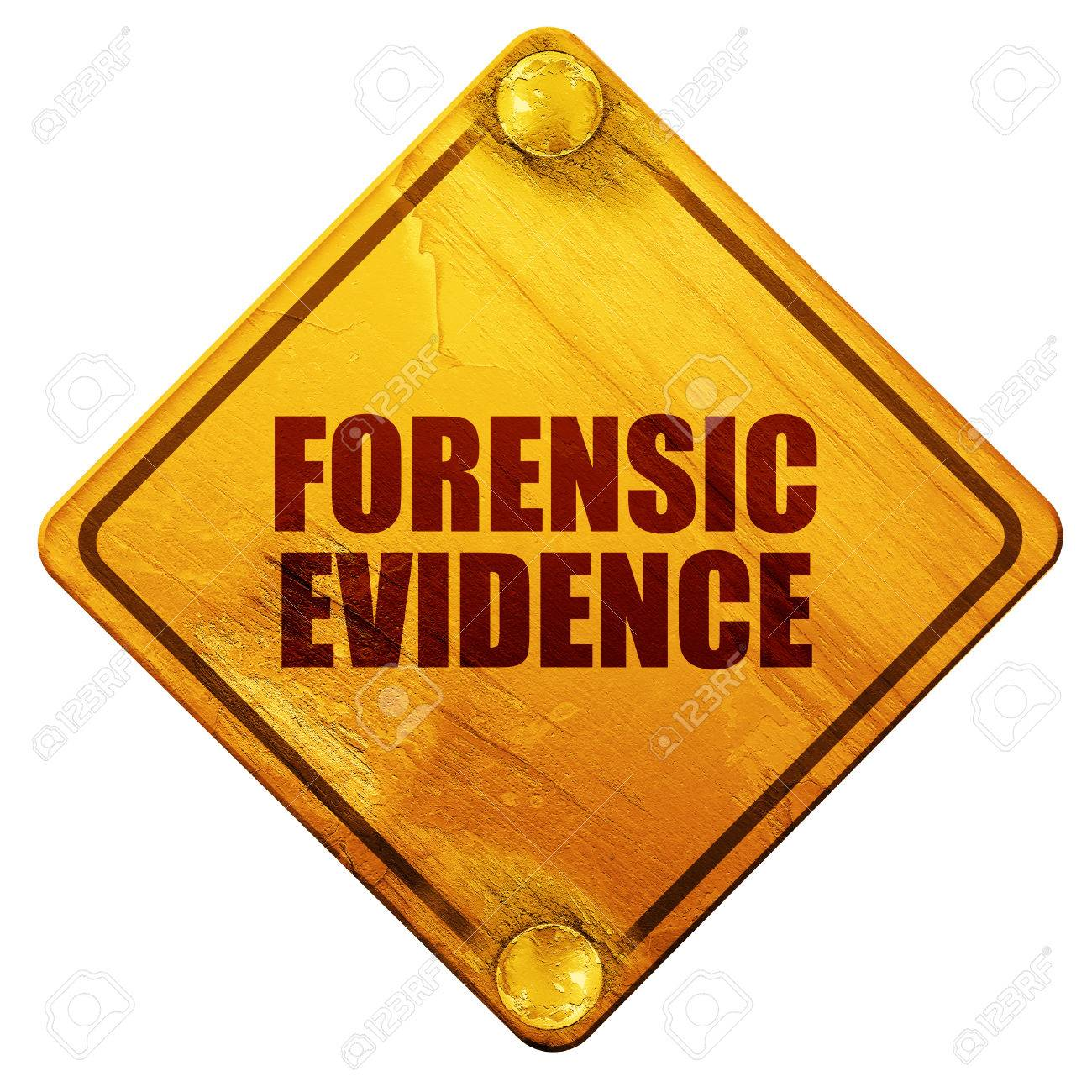 Forensic Evidence 3d Rendering Yellow Road Sign On A White Stock Photo Picture And Royalty Free Image Image 56200941