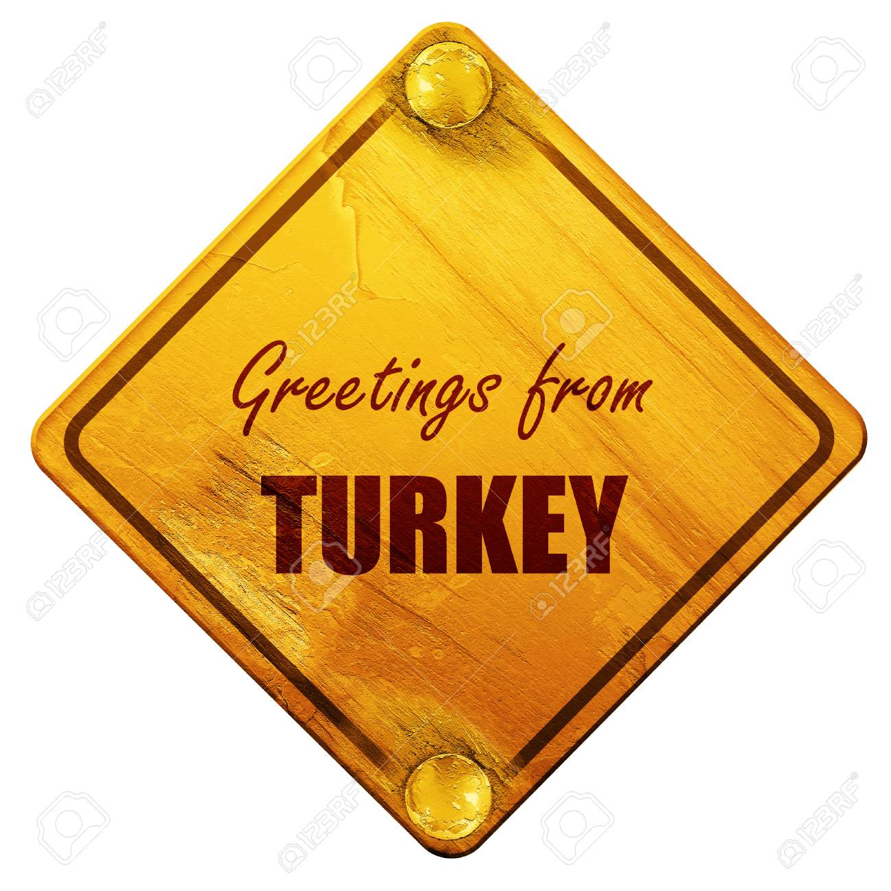 Greetings from turkey card with some soft highlights 3d rendering greetings from turkey card with some soft highlights 3d rendering yellow road sign on m4hsunfo