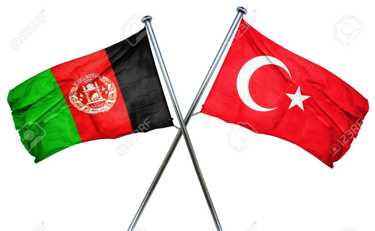 Afghanistan Flagge Mit Turkei Flagge Kombiniert Lizenzfreie Fotos