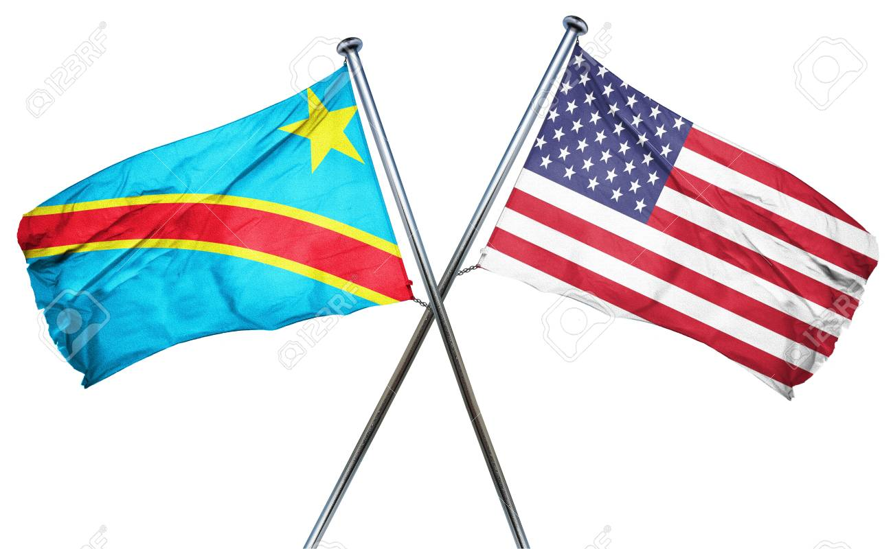 Democratic Republic Of The Congo Flag Combined With American.. Stock Photo,  Picture And Royalty Free Image. Image 56731311.