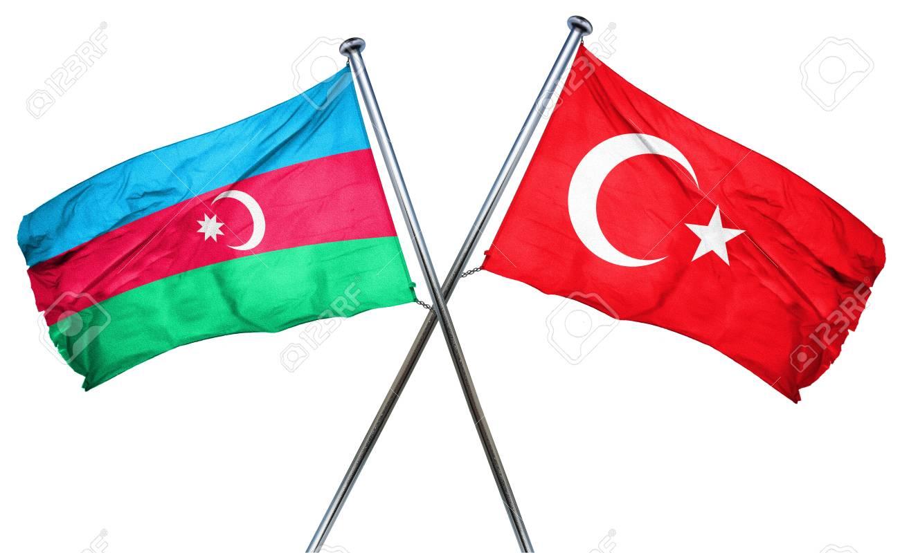 Aserbaidschan Flagge Mit Turkei Flagge Kombiniert Lizenzfreie Fotos Bilder Und Stock Fotografie Image 56723298
