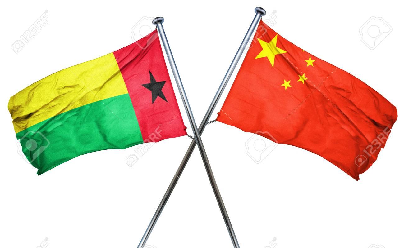 中国の国旗を組み合わせてギニア...