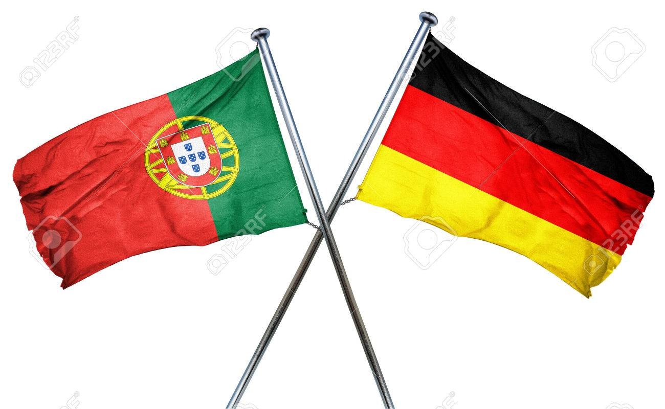Portugal Flag Combined With Germany Flag Stock Photo, Picture And Royalty Free Image. Image 56705571.