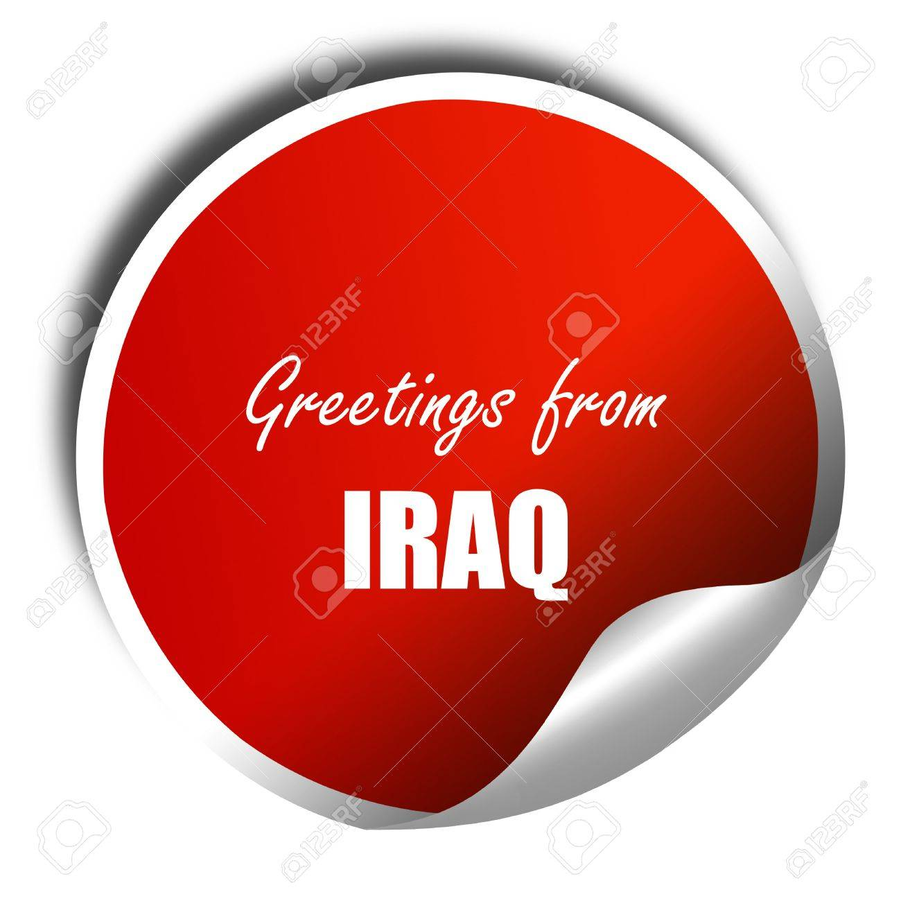 Greetings from iraq card with some soft highlights 3d rendering greetings from iraq card with some soft highlights 3d rendering red sticker with white kristyandbryce Gallery