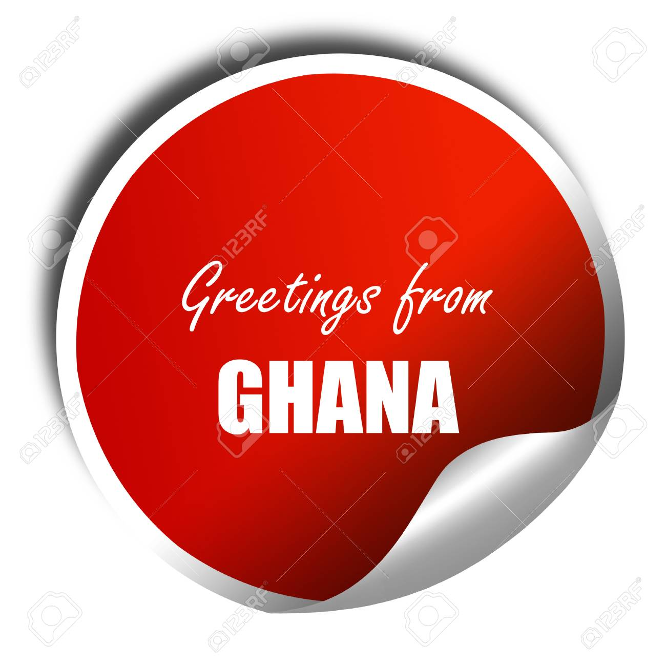 Greetings from ghana card with some soft highlights 3d rendering greetings from ghana card with some soft highlights 3d rendering red sticker with white m4hsunfo