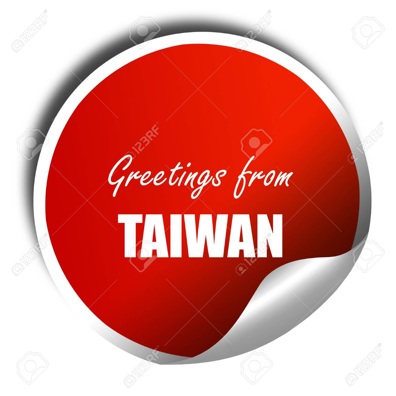 Greetings from taiwan card with some soft highlights 3d rendering greetings from taiwan card with some soft highlights 3d rendering red sticker with white m4hsunfo