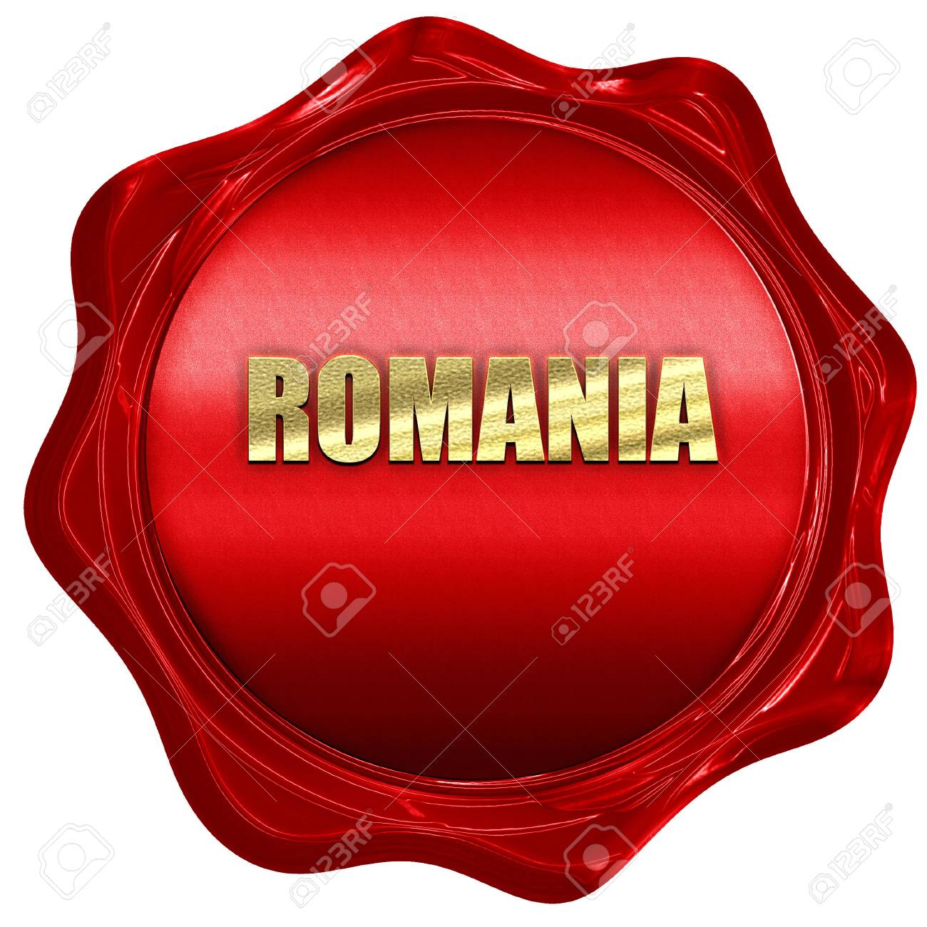 Greetings from romania card with some soft highlights 3d rendering greetings from romania card with some soft highlights 3d rendering a red wax seal m4hsunfo