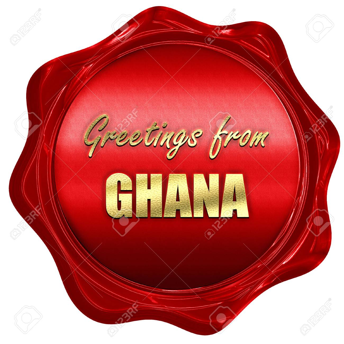 Greetings From Ghana Card With Some Soft Highlights 3d Rendering