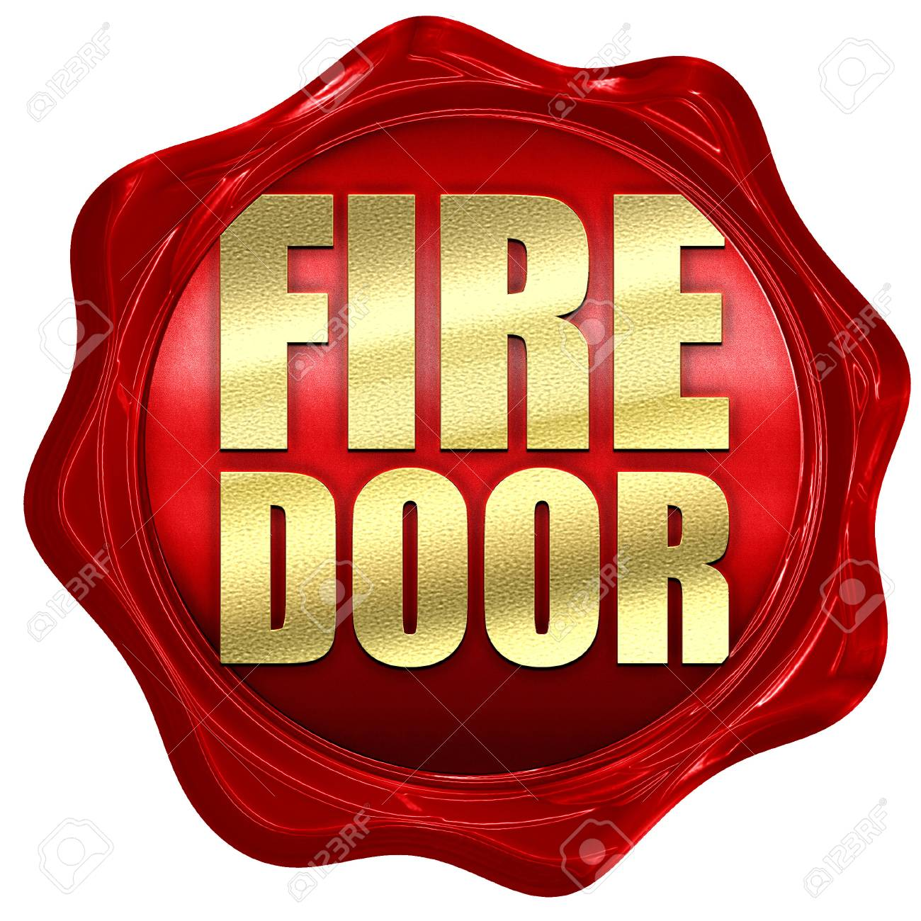 fire door 3D rendering a red wax seal Stock Photo - 57575419  sc 1 st  123RF.com & Fire Door 3D Rendering A Red Wax Seal Stock Photo Picture And ...