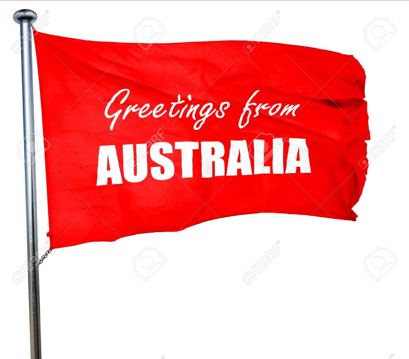 Greetings From Australia Card With Some Soft Highlights 3d