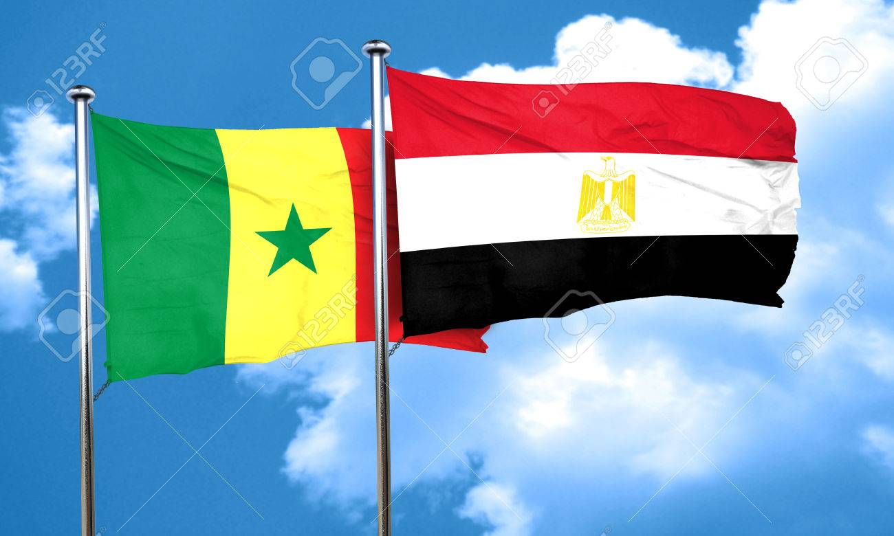 Resultado de imagen para Egipto y Senegal banderas