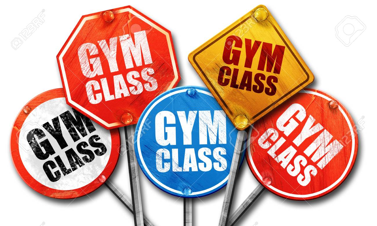 Gym Class, 3D Rendering, Street Signs Stock Photo, Picture And Royalty Free Image. Image 58474955.