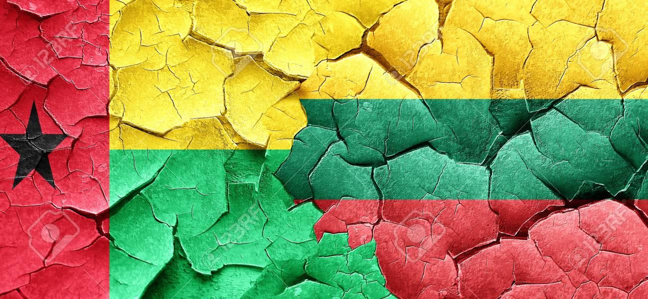 グランジのリトアニアの国旗とギ...