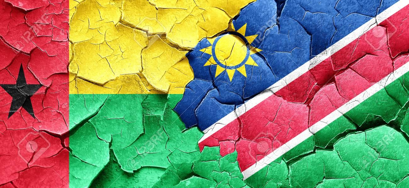 グランジにナミビアの国旗とギニ...