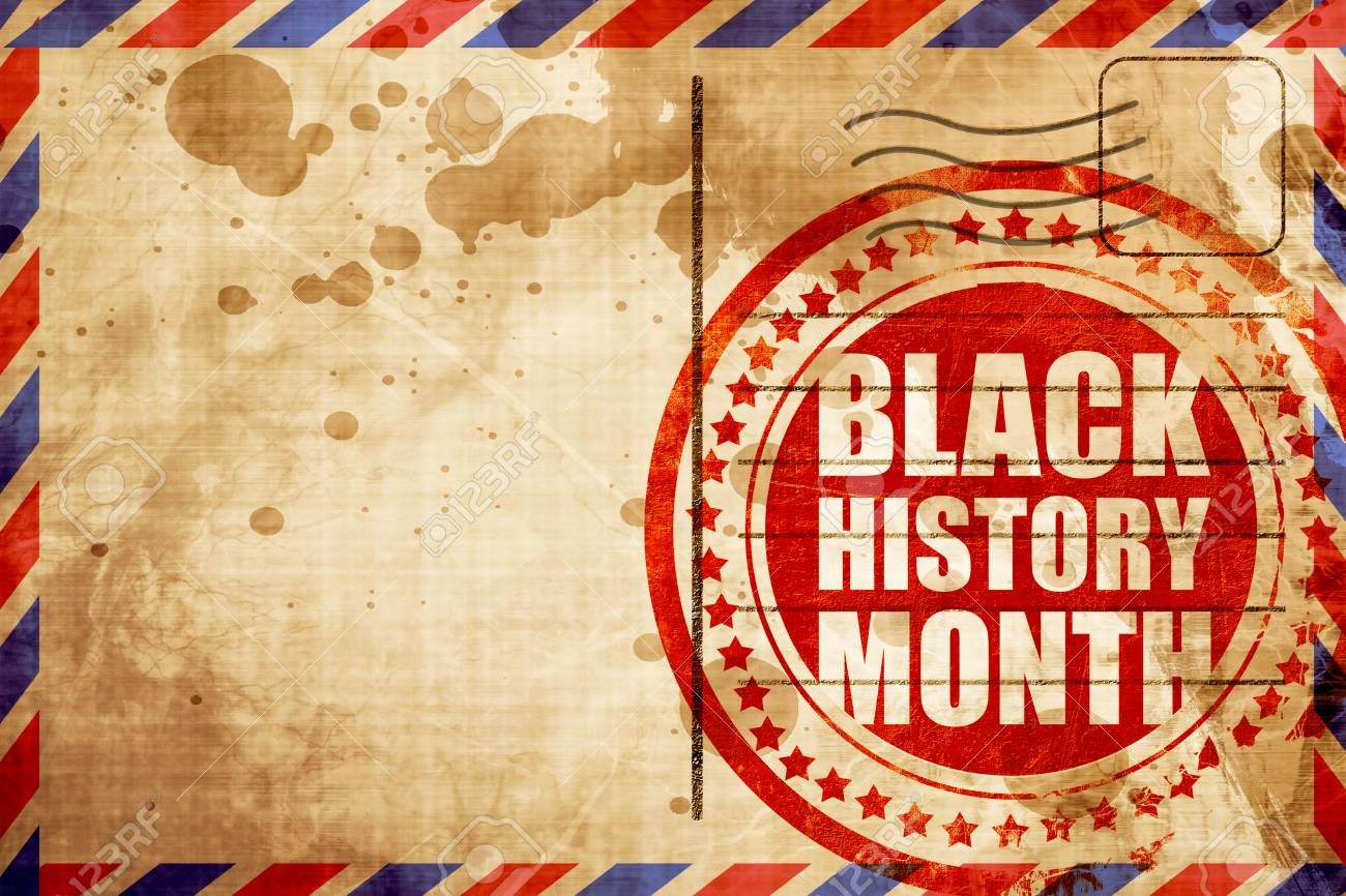 Black History Month Red Grunge Stamp On An Airmail Background Stock Photo Picture And Royalty Free Image Image 58435352