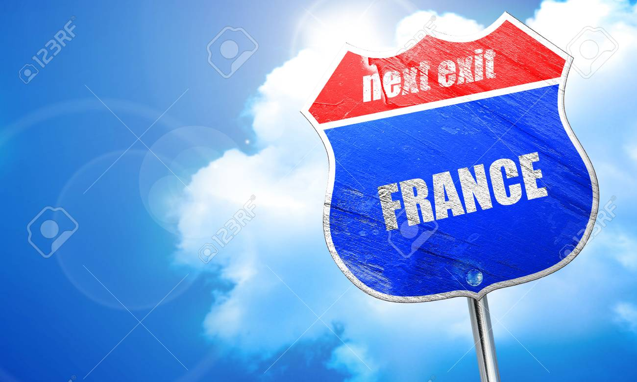 Greetings from france card with some soft highlights 3d rendering greetings from france card with some soft highlights 3d rendering blue street sign stock m4hsunfo
