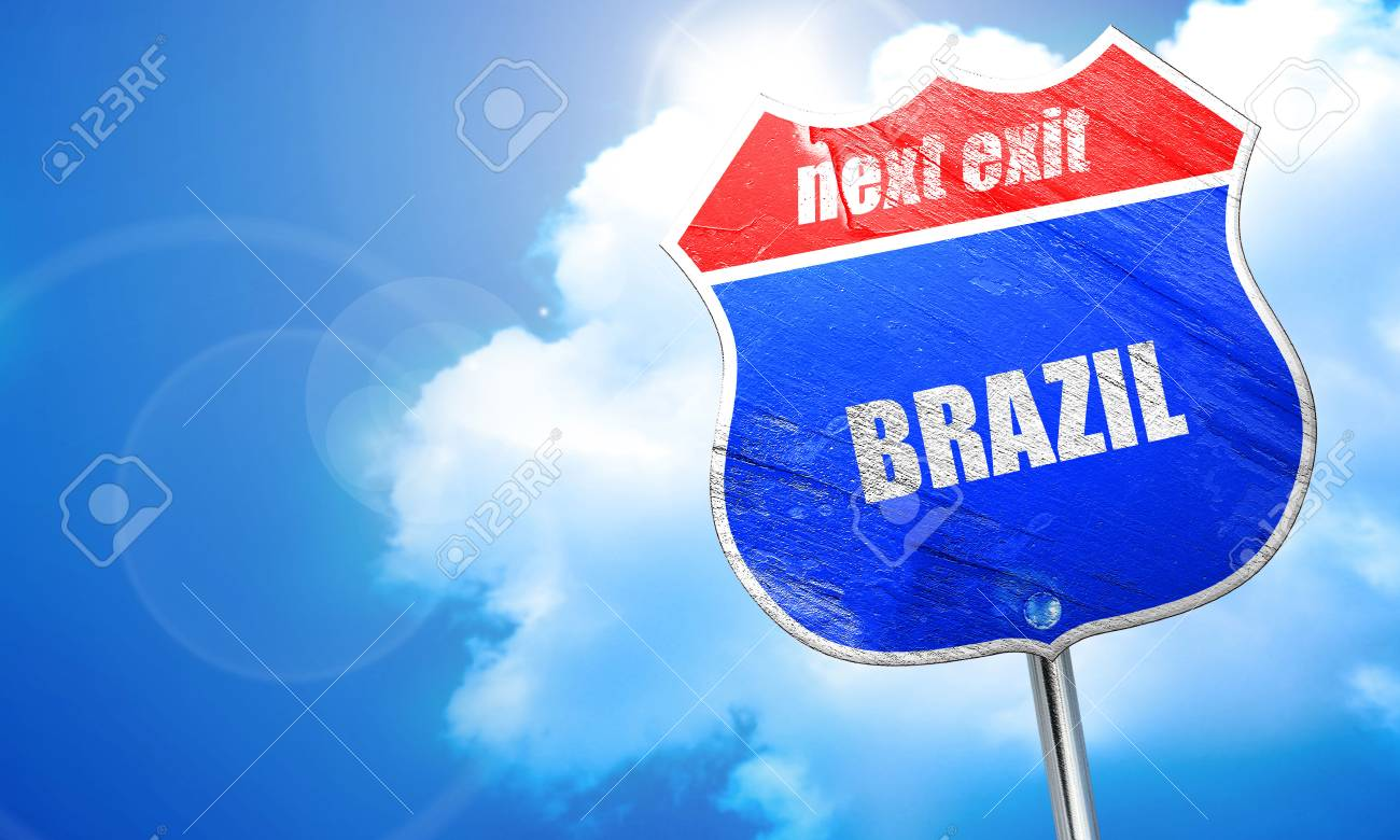 Greetings from brazil card with some soft highlights 3d rendering greetings from brazil card with some soft highlights 3d rendering blue street sign stock m4hsunfo