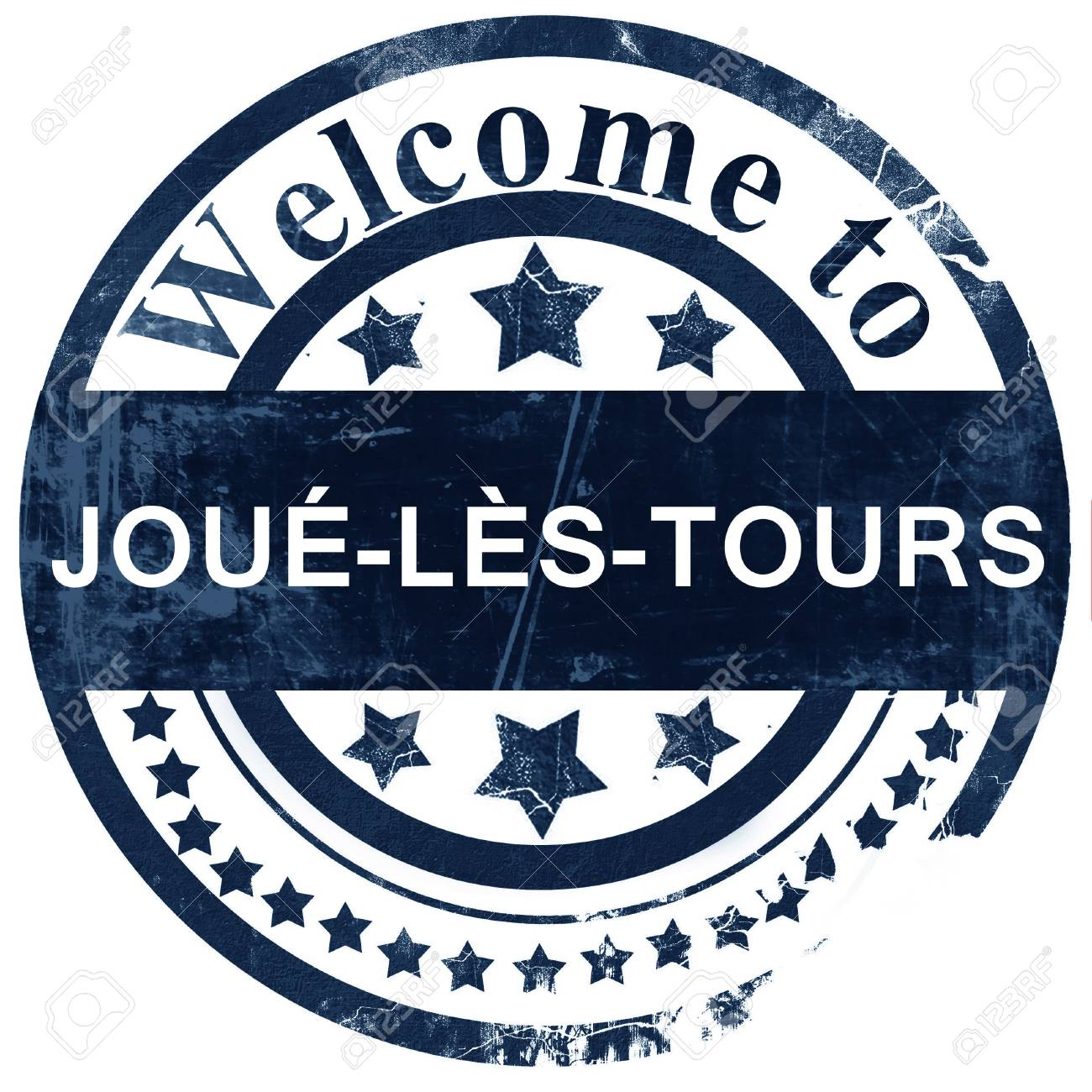 joue-les-tours stamp on white background - 69279875