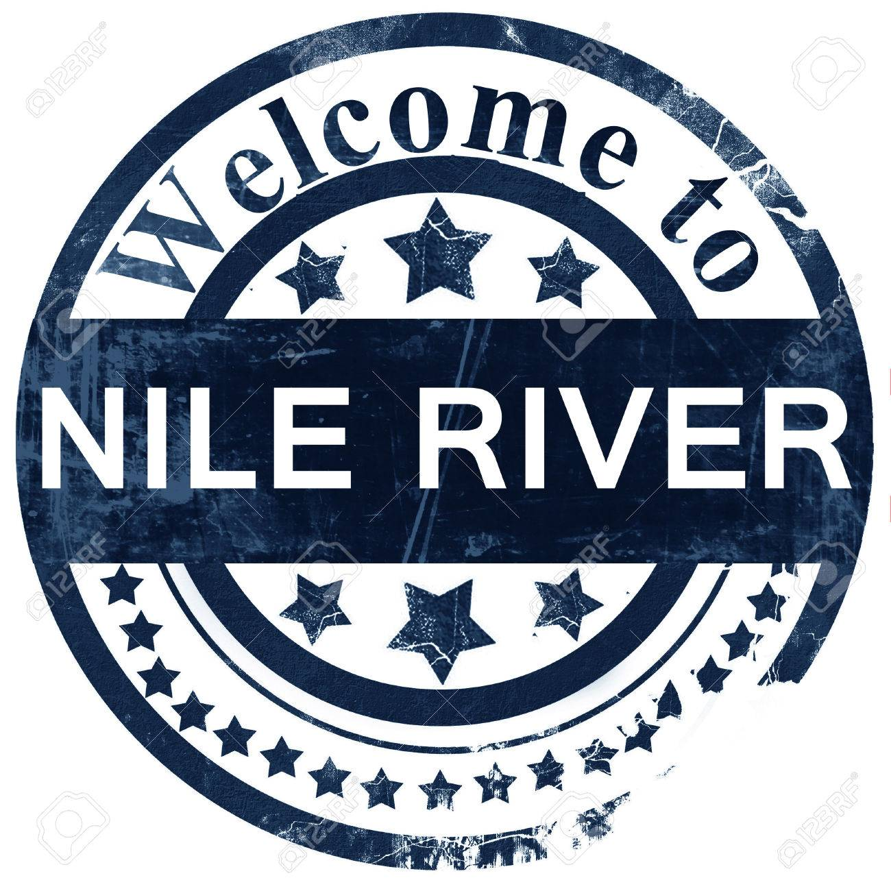 Nile River Stamp On White Background Stock Photo Picture And