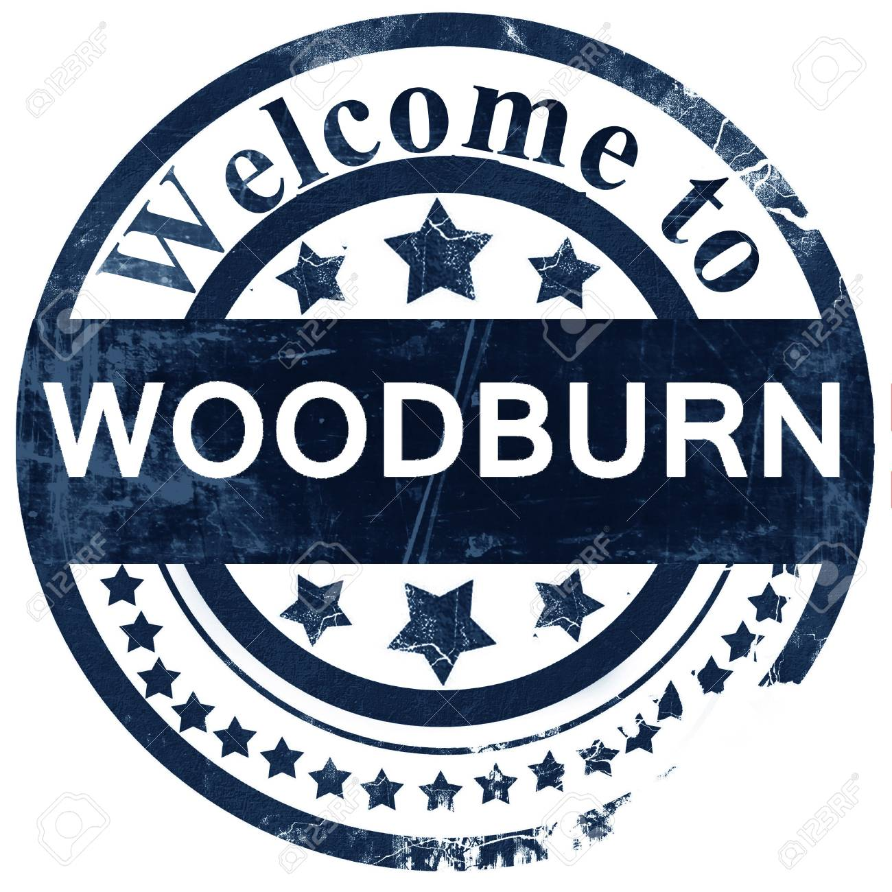 Woodburn Stamp On White Background Stock Photo Picture And Royalty