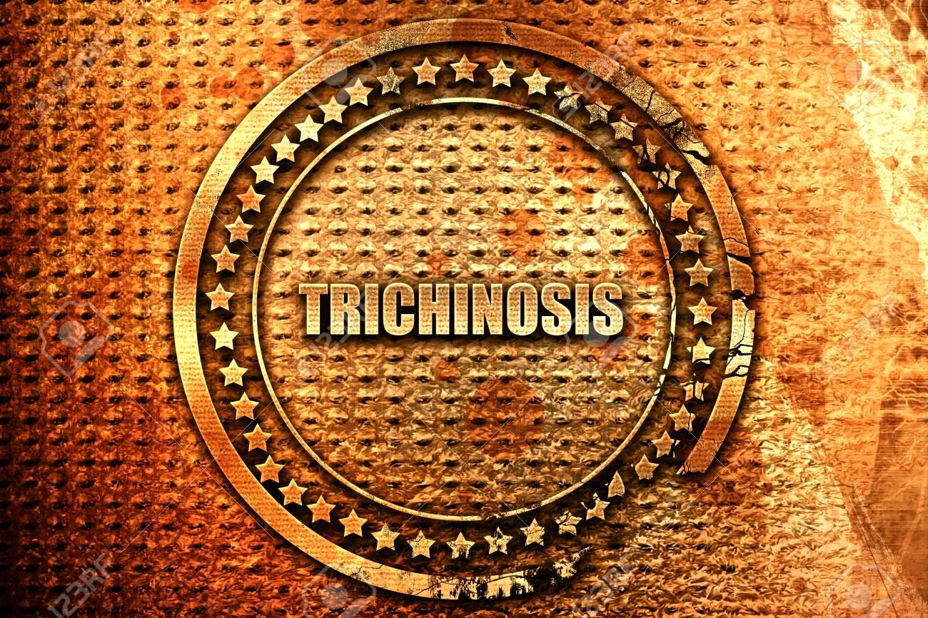Trichinose, Rendu 3d, Timbre En Métal Grunge Banque D'Images Et ...