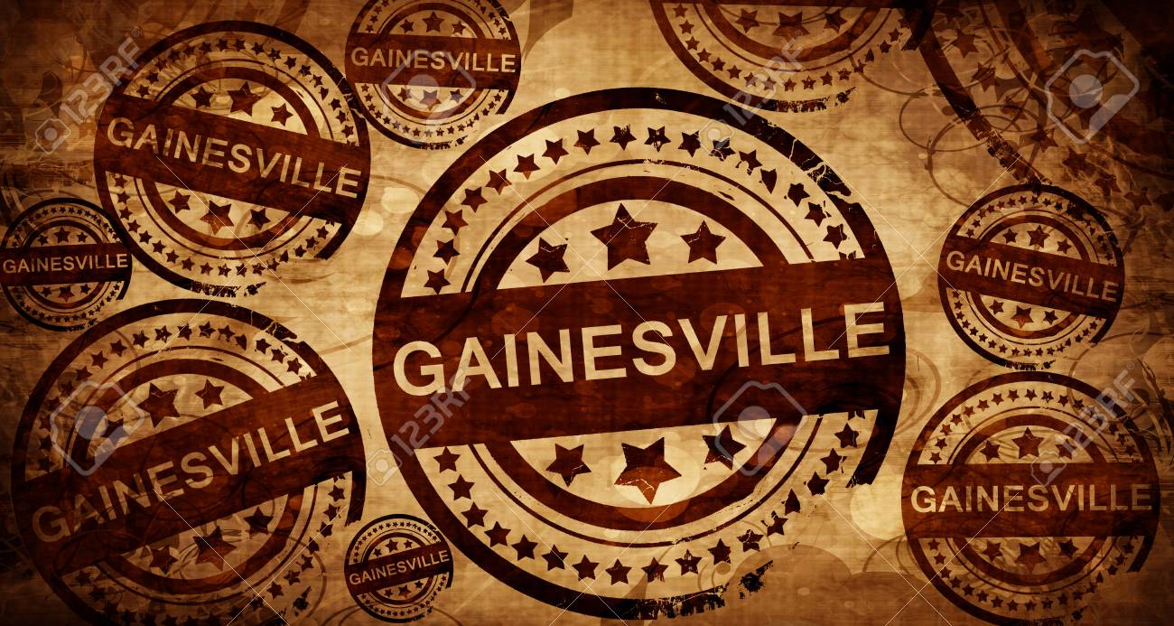 gainesville, vintage stamp on paper background