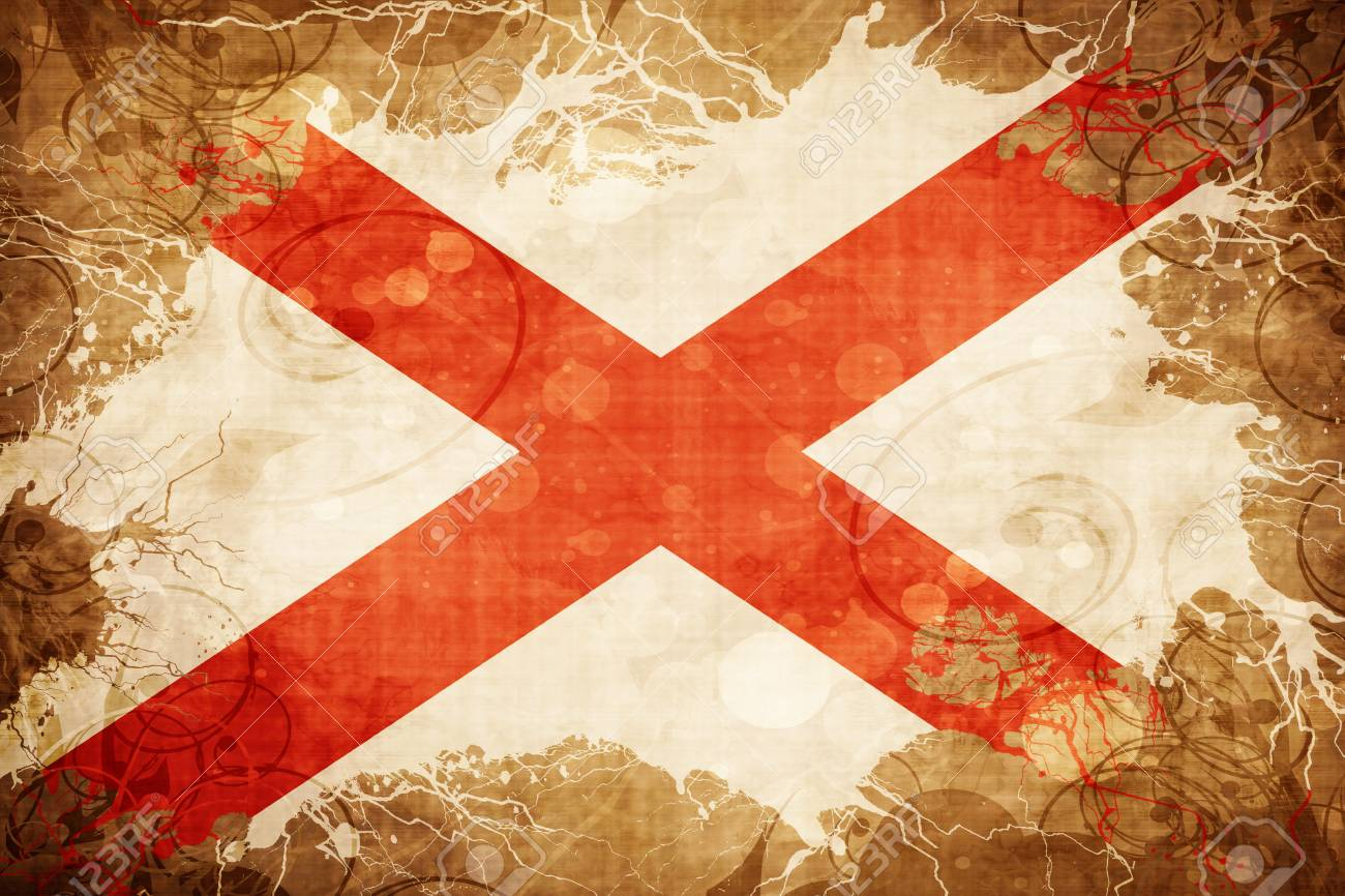 Vintage Alabama Flag Stock Photo, Picture And Royalty Free Image ...