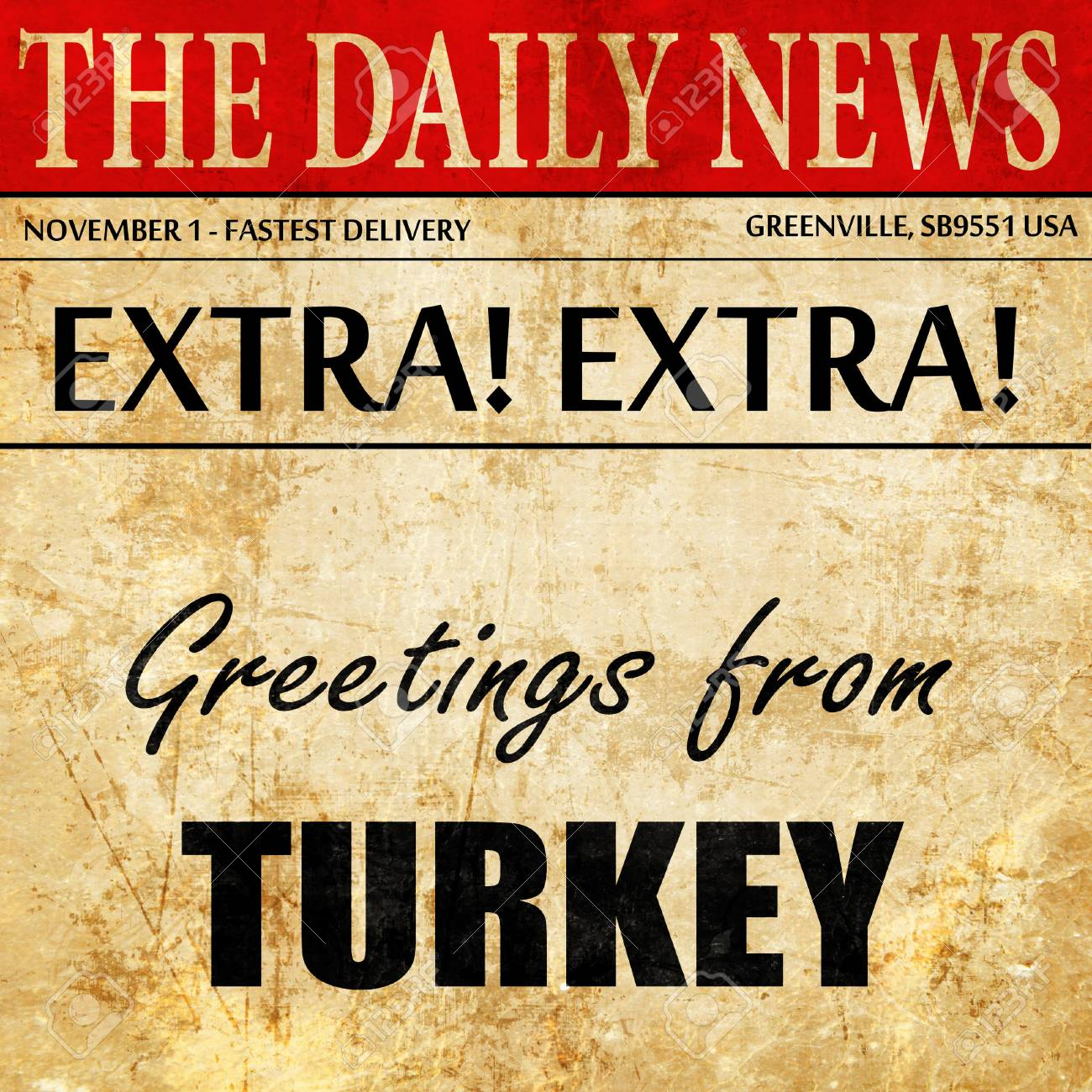 Greetings from turkey newspaper article text stock photo picture greetings from turkey newspaper article text stock photo 70781454 m4hsunfo