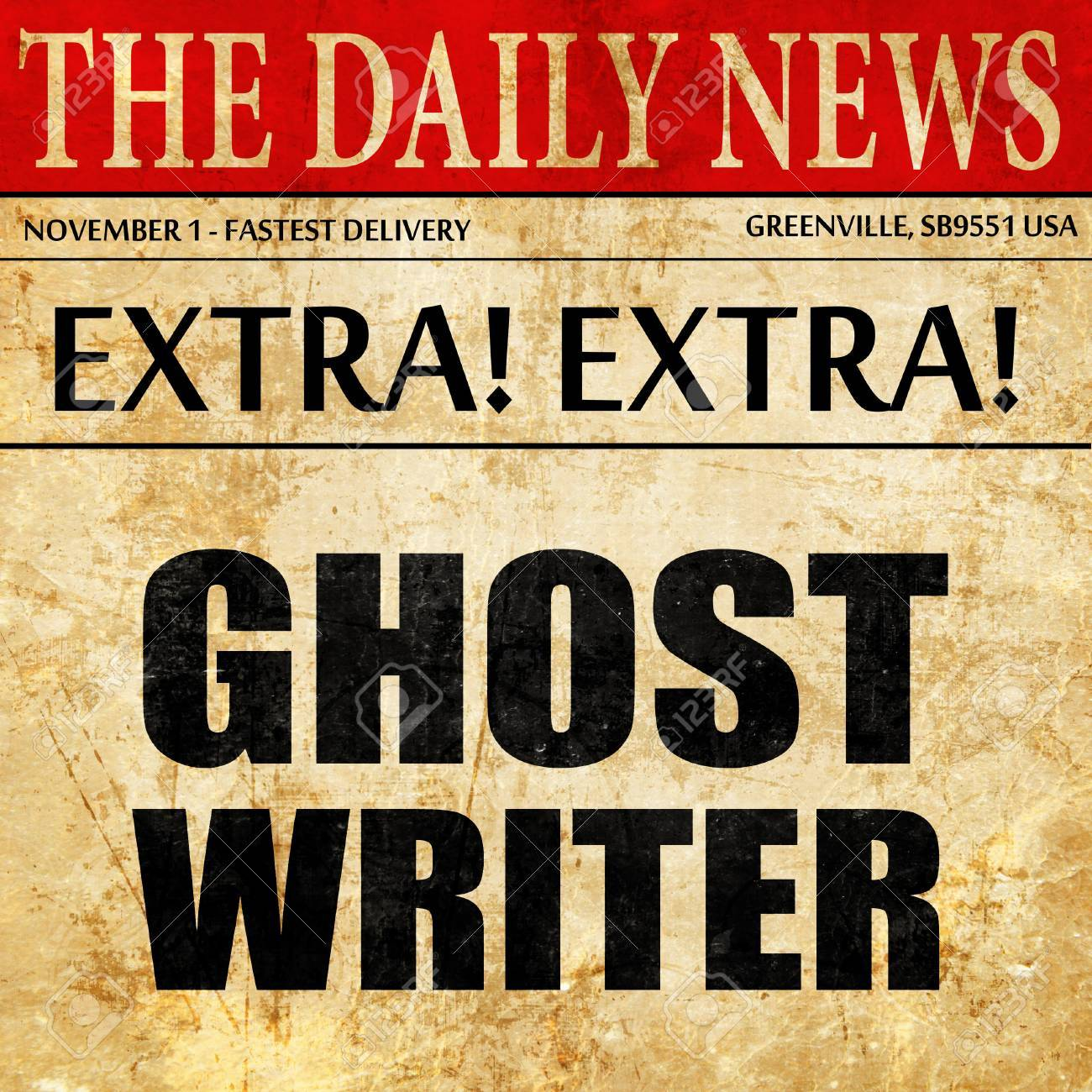 Ghost Writer Newspaper Article Text Stock Photo Picture And  Ghost Writer Newspaper Article Text Stock Photo