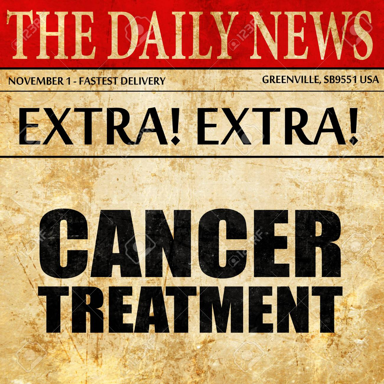 cancer treatment, newspaper article text