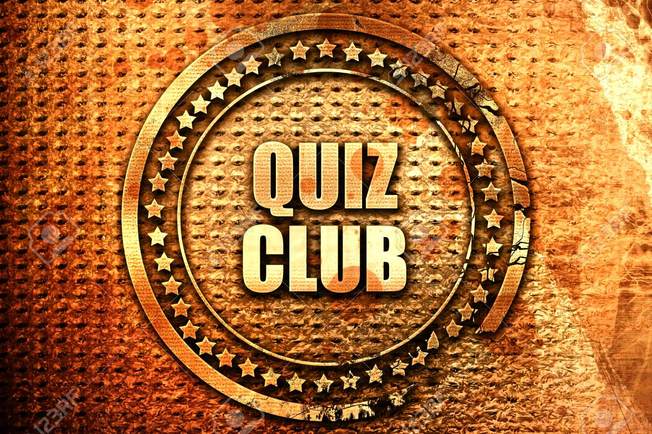 Quiz Club 3d Rendering Text On Metal Stock Photo Picture And