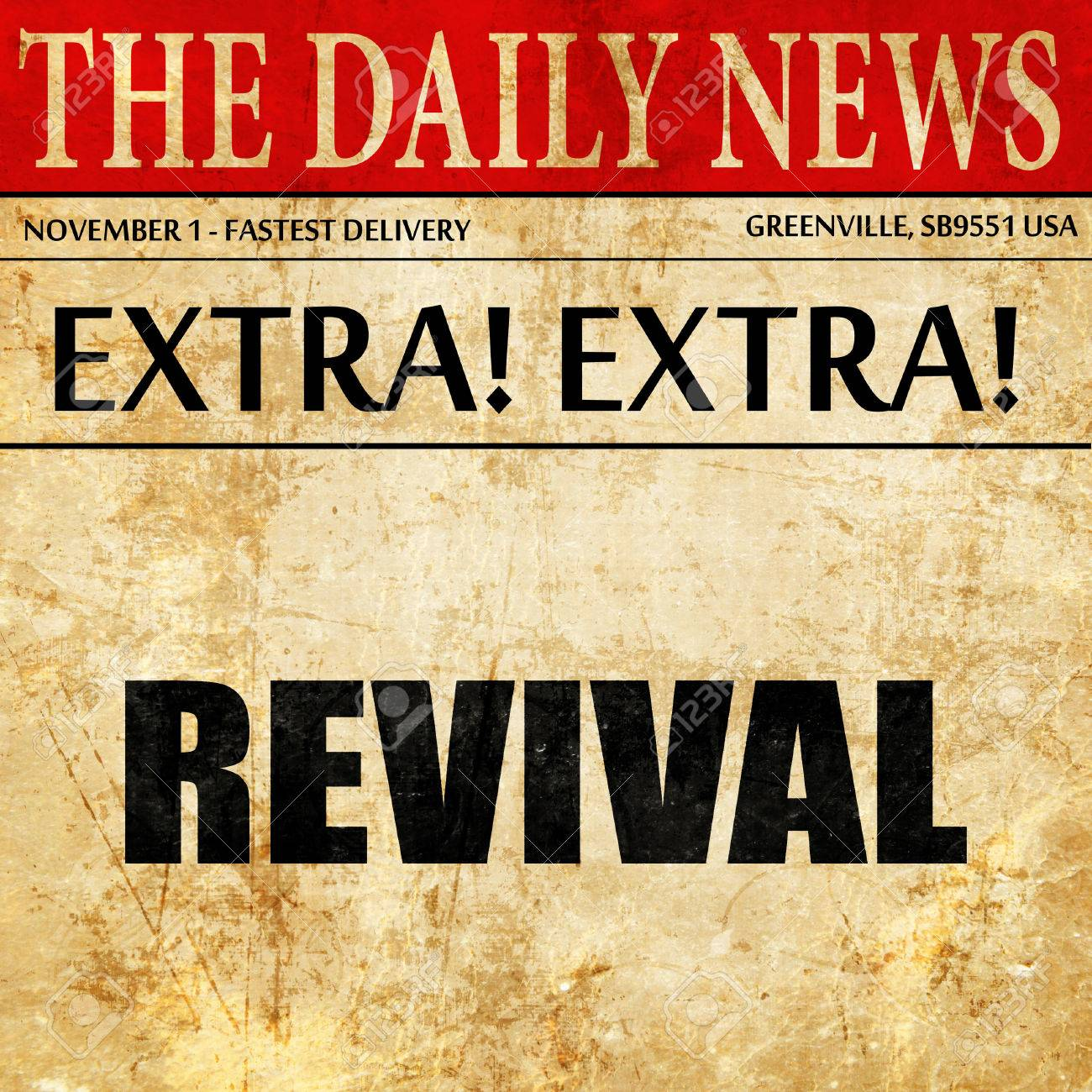 revival, article text in newspaper - 71601796