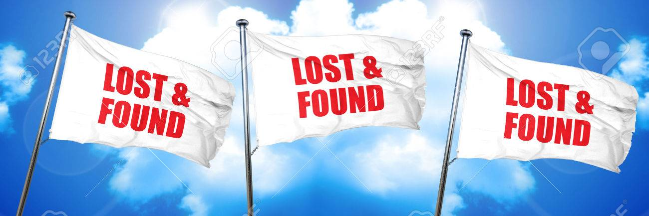 Lost And Found 3d Rendering Triple Flags Stock P O 72912721