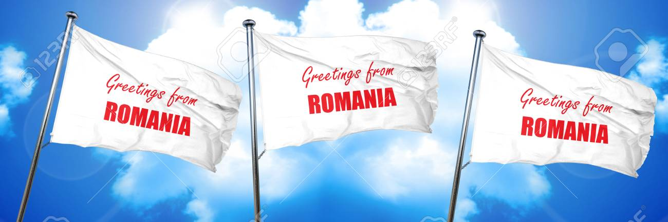 Greetings from romania card with some soft highlights 3d rendering greetings from romania card with some soft highlights 3d rendering triple flags stock photo m4hsunfo
