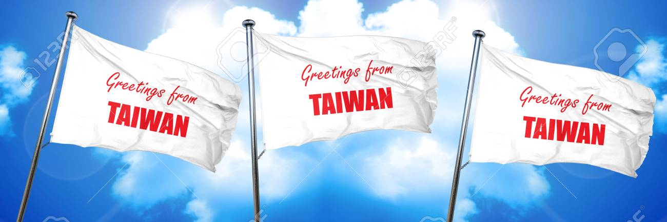 Greetings from taiwan card with some soft highlights 3d rendering foto de archivo greetings from taiwan card with some soft highlights 3d rendering triple flags m4hsunfo