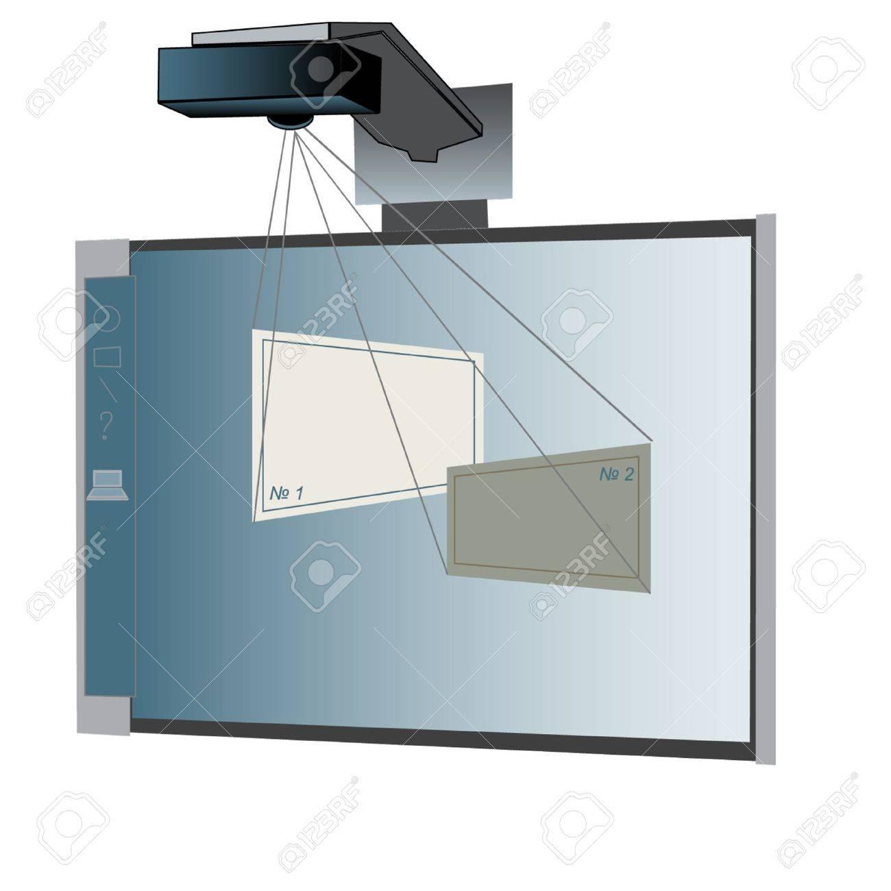 Interactive whiteboard Stock Vector - 15013146