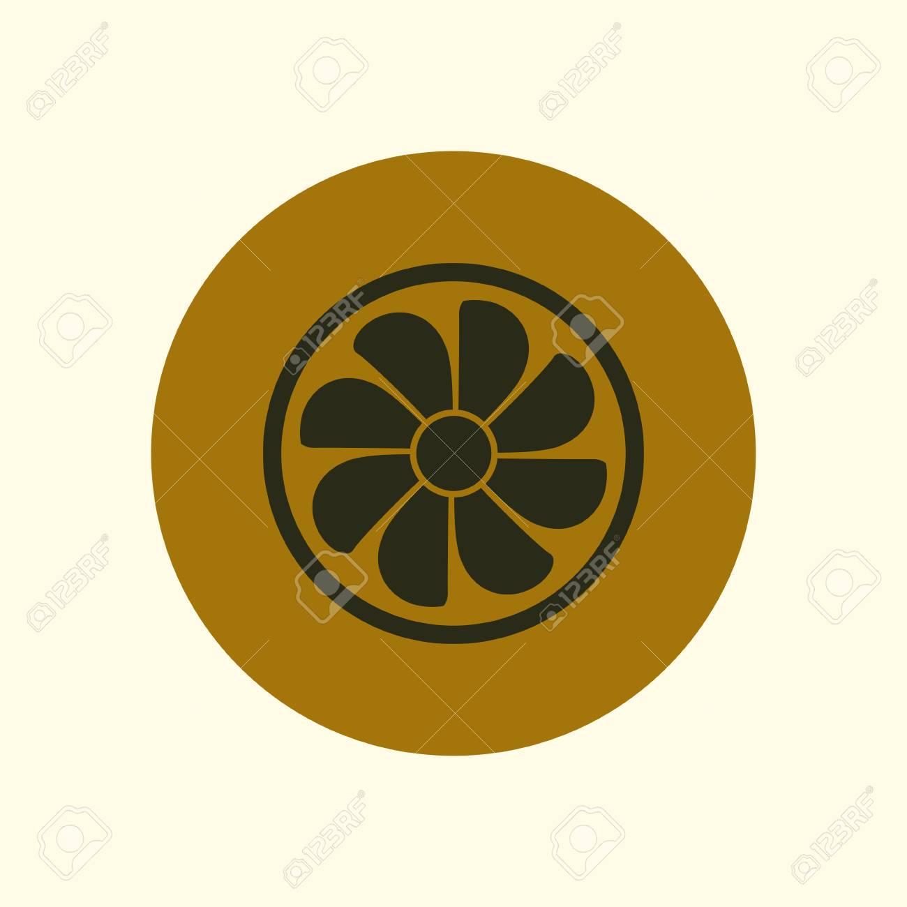 Exhaust Fan Icon Ventilator Symbol Flat Design Style Royalty Free