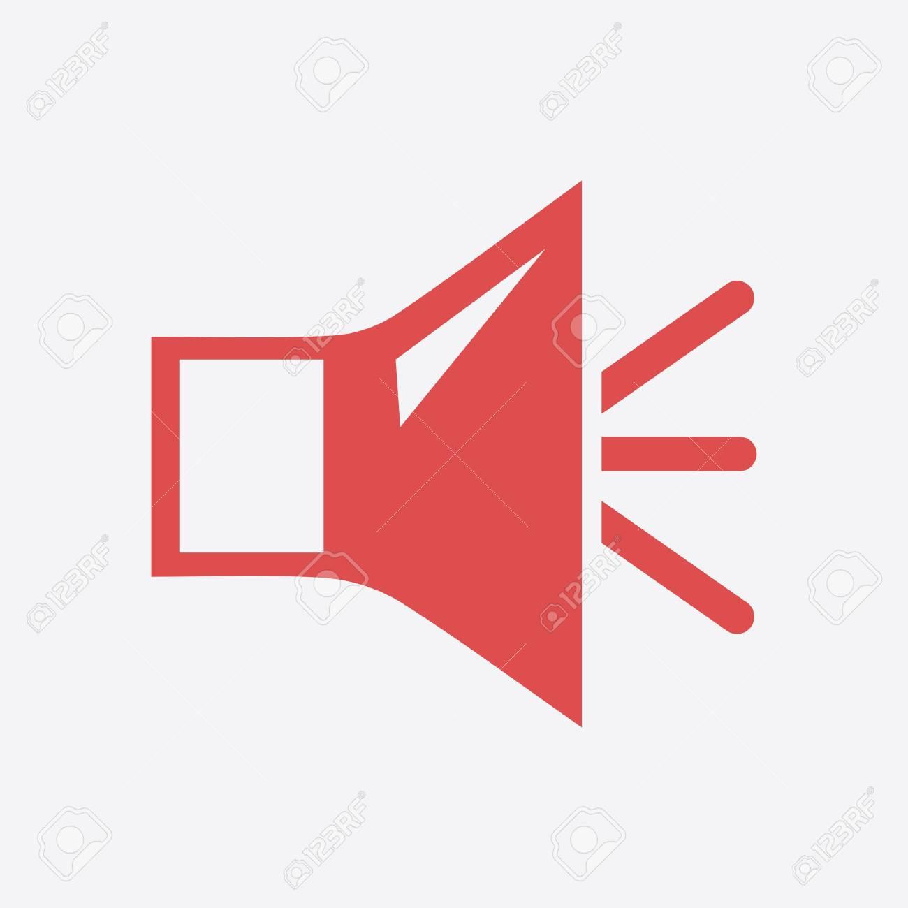 Loud Speaker Icon Speaker Volume Sign Icon Sound Symbol Flat