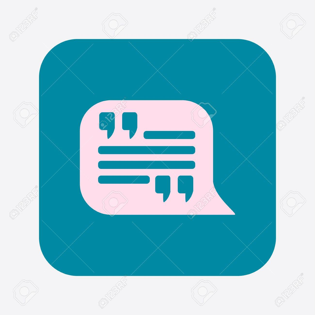 Direct Quote Quote Iconquotation Mark In Speech Bubble Symboldirect Oration