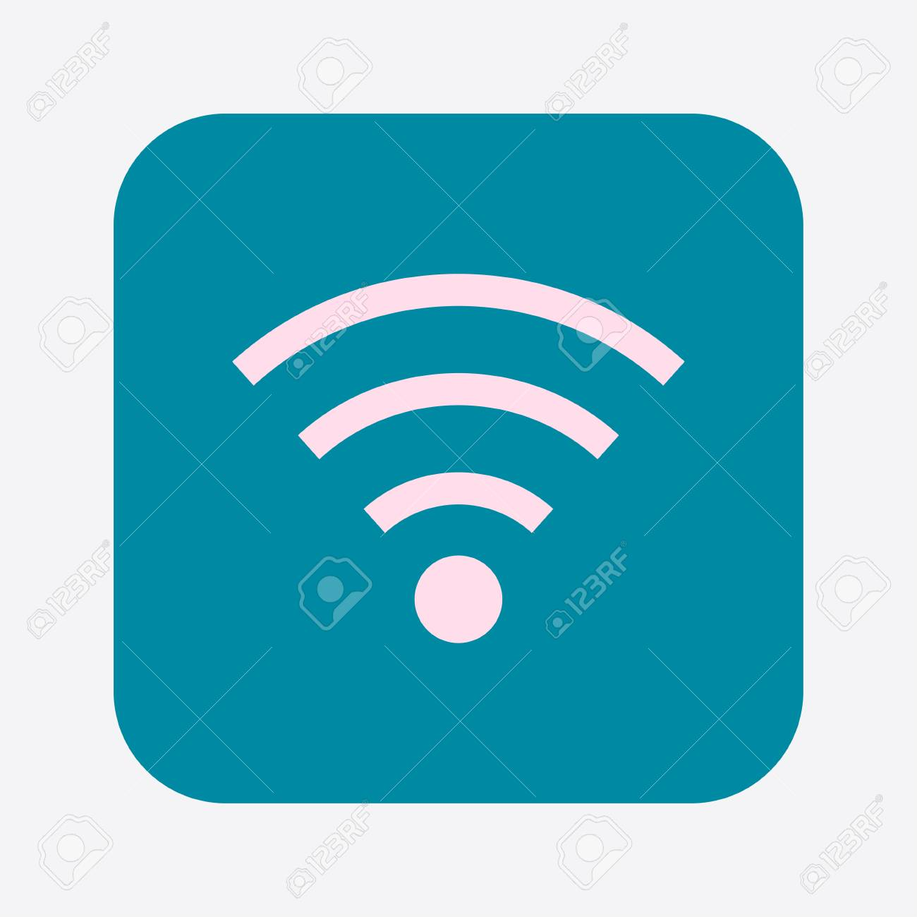 Wifi Symbol Vector Wireless Network Icon Flat Design Style