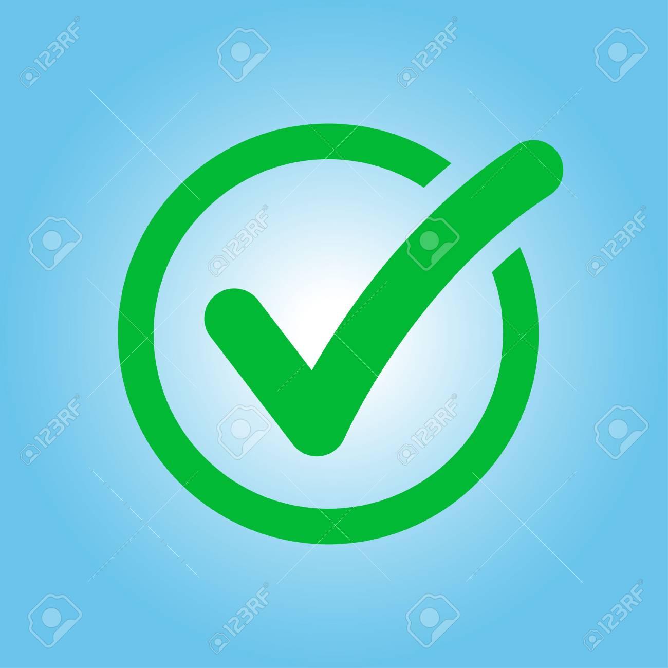 Icono Del Botón De Lista De Verificación. Marca De Verificación En ...