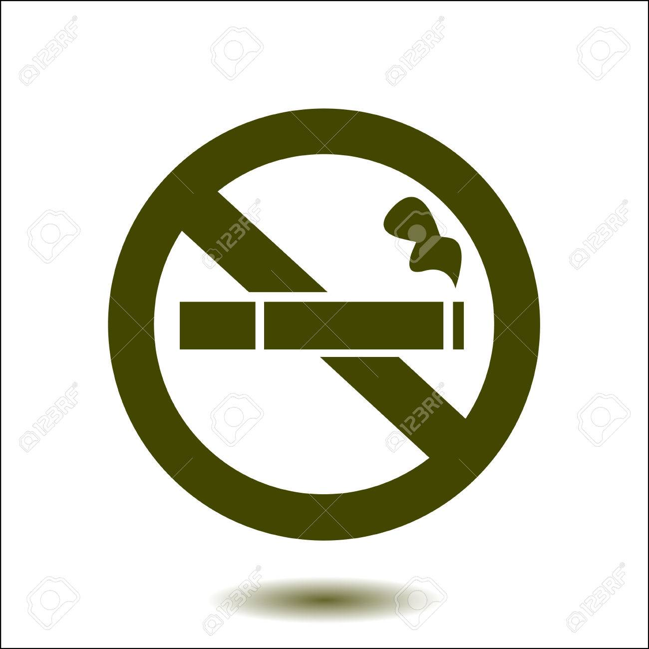 No Smoke Icon Stop Smoking Symbol Vector Illustration Filter