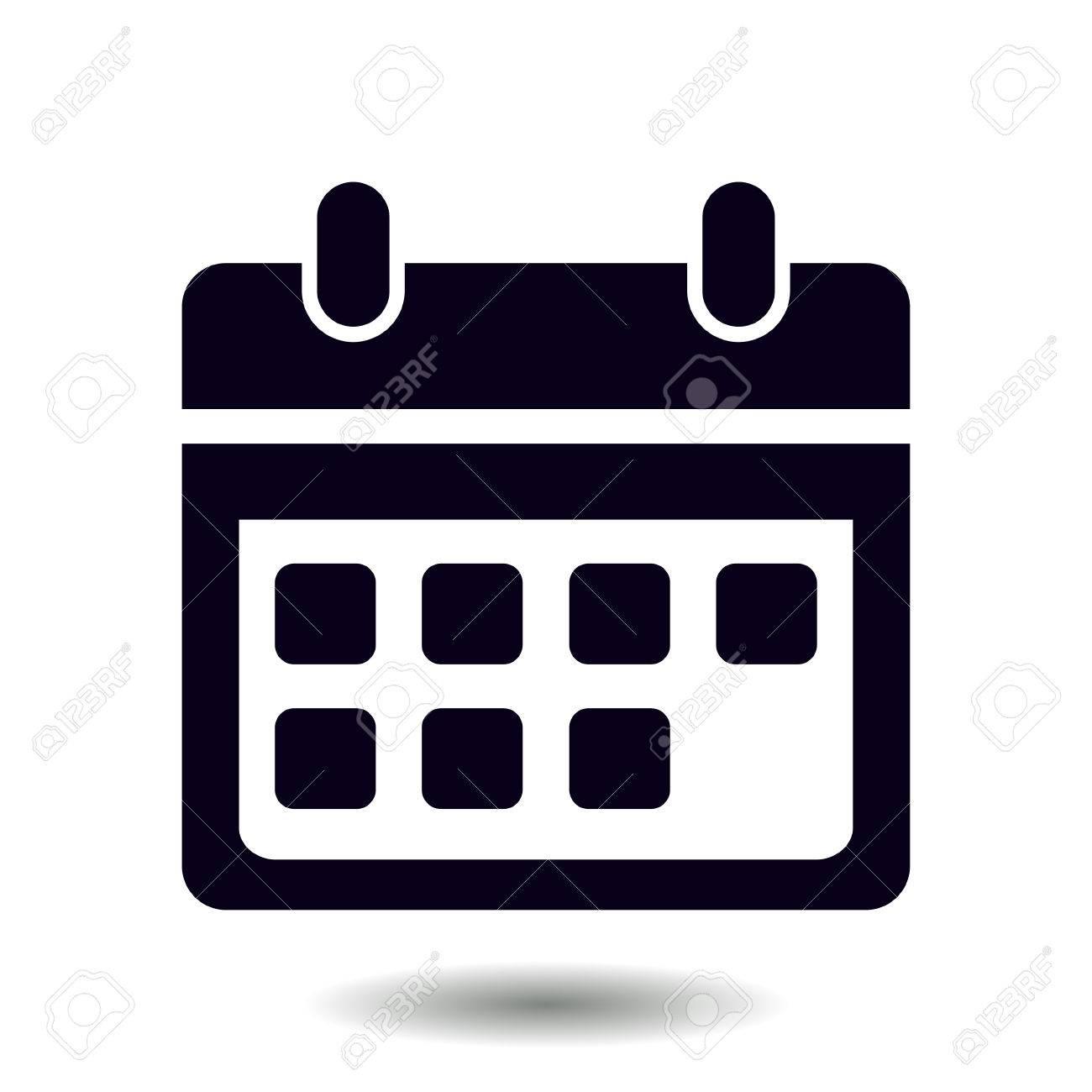 Calendario Vectorizado.Vector Calendar Icon Important Dates Sign Flat Design Style