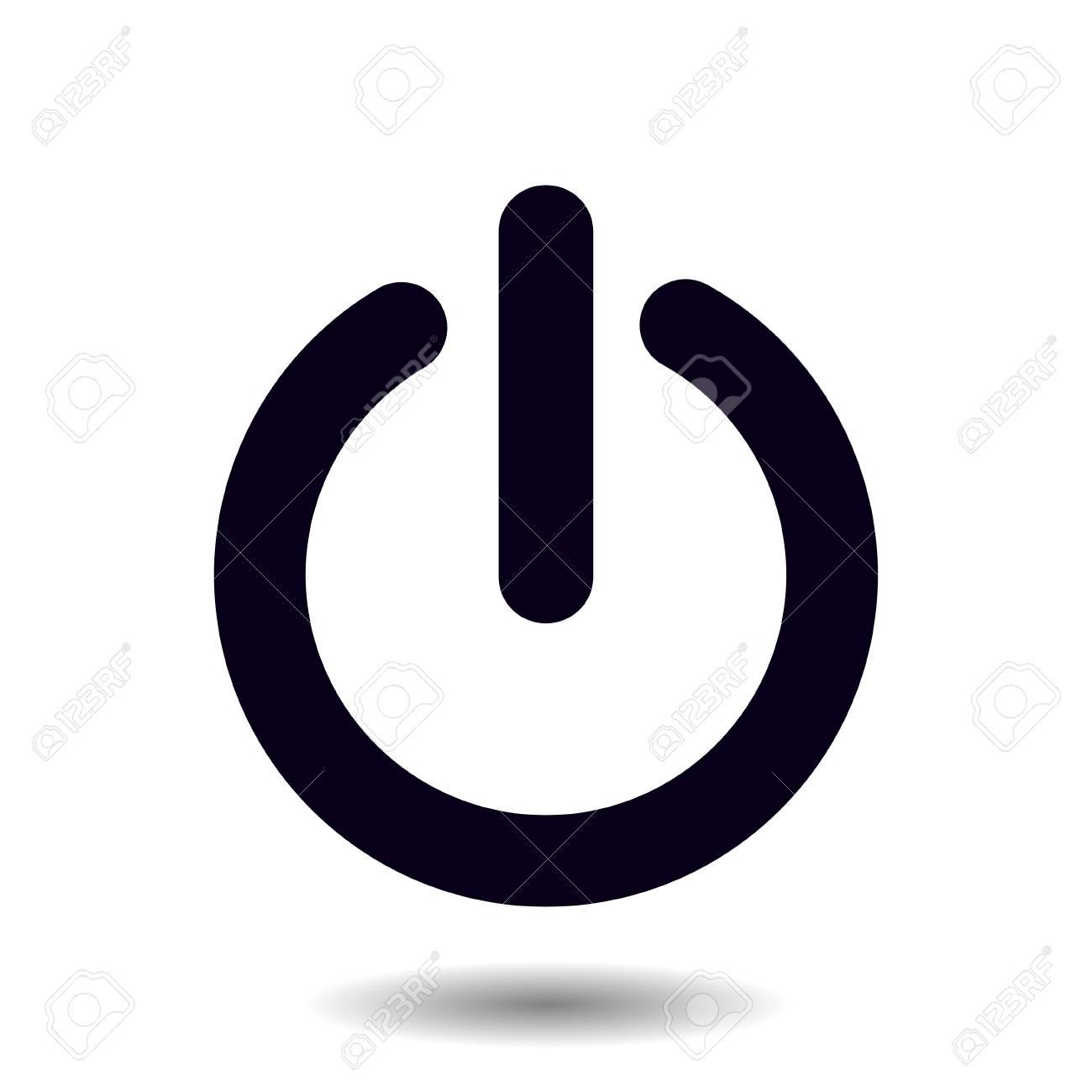 電源記号アイコン。 電源ボタン。アプリケーションを閉じます ...