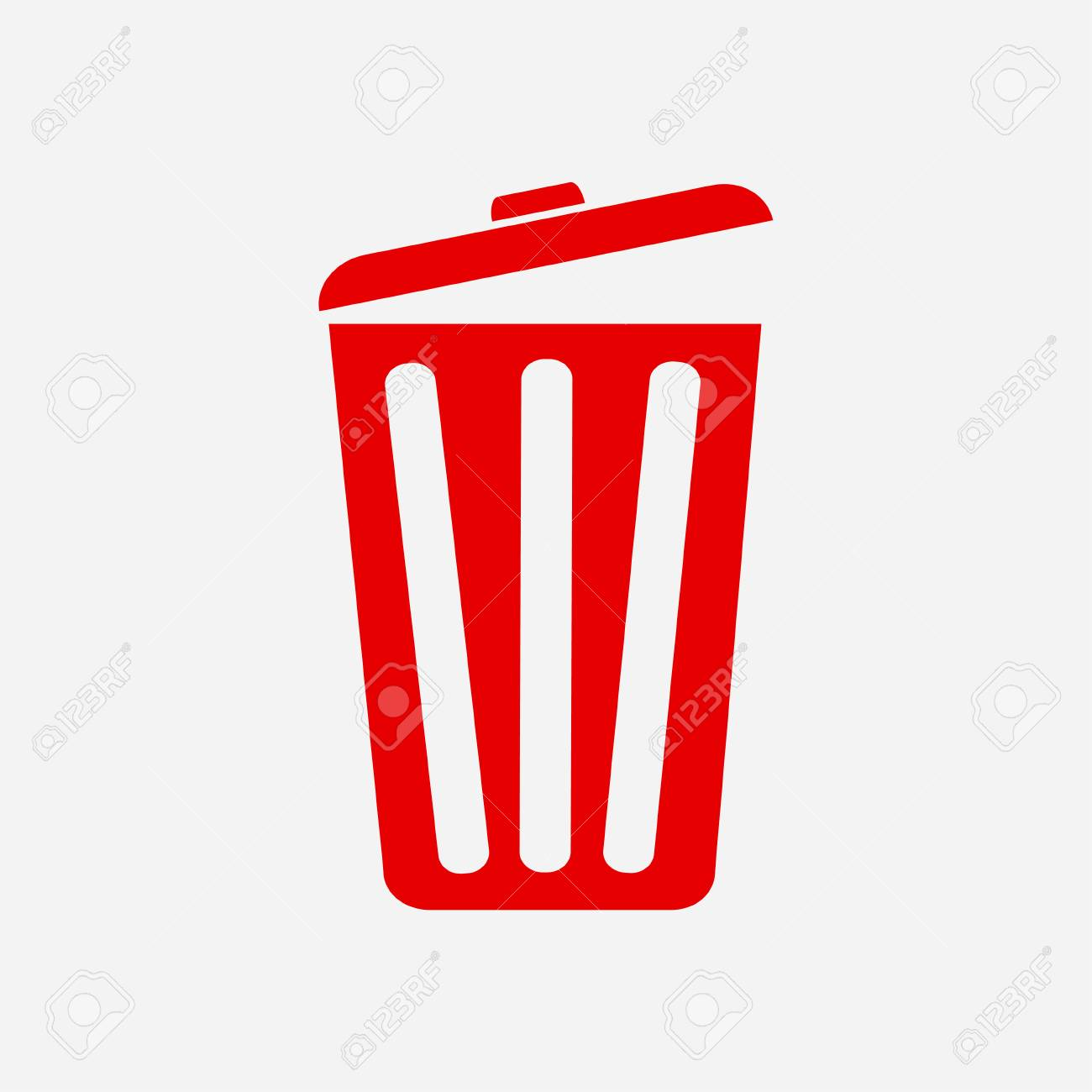 Red trash can icon. - 84747832